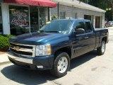2008 Dark Blue Metallic Chevrolet Silverado 1500 LT Extended Cab 4x4 #31712488