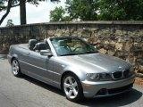 2004 Silver Grey Metallic BMW 3 Series 325i Convertible #31743132