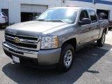 2009 Graystone Metallic Chevrolet Silverado 1500 LT Crew Cab 4x4 #31743172