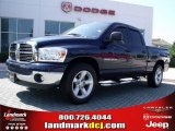 2007 Patriot Blue Pearl Dodge Ram 1500 SLT Quad Cab #31743197
