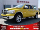2008 Detonator Yellow Dodge Ram 1500 Big Horn Edition Quad Cab #31743199