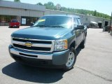 2010 Blue Granite Metallic Chevrolet Silverado 1500 LT Crew Cab 4x4 #31743582