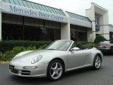 2007 Arctic Silver Metallic Porsche 911 Carrera Cabriolet #31791104
