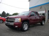 2009 Deep Ruby Red Metallic Chevrolet Silverado 1500 LT Extended Cab 4x4 #31791152
