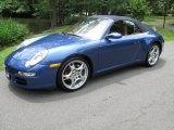 Cobalt Blue Metallic Porsche 911 in 2007
