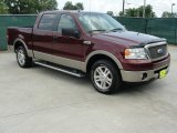 2006 Dark Toreador Red Metallic Ford F150 Lariat SuperCrew #31791356