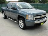 2008 Blue Granite Metallic Chevrolet Silverado 1500 LS Crew Cab #31791359