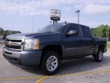 2010 Blue Granite Metallic Chevrolet Silverado 1500 LS Crew Cab #31791387