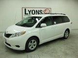 2011 Super White Toyota Sienna LE #31850728