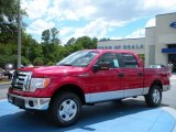 2010 Vermillion Red Ford F150 XLT SuperCrew 4x4 #31850940