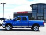 2007 Electric Blue Pearl Dodge Ram 1500 Big Horn Edition Quad Cab 4x4 #31851390