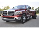 2009 Inferno Red Crystal Pearl Dodge Ram 3500 Big Horn Edition Quad Cab Dually #31851156