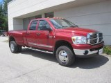 2008 Inferno Red Crystal Pearl Dodge Ram 3500 Big Horn Edition Quad Cab 4x4 Dually #31851236