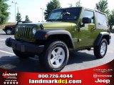 2010 Rescue Green Metallic Jeep Wrangler Sport 4x4 #31851064