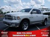2010 Stone White Dodge Ram 1500 Laramie Crew Cab #31851081