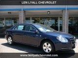 2008 Imperial Blue Metallic Chevrolet Malibu Hybrid Sedan #31900479