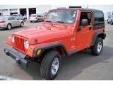 2006 Impact Orange Jeep Wrangler X 4x4 #31850898