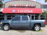 2008 Blue Granite Metallic Chevrolet Silverado 1500 LT Crew Cab #31850903