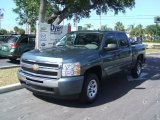 2010 Blue Granite Metallic Chevrolet Silverado 1500 LS Crew Cab #31850912