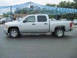 2010 Sheer Silver Metallic Chevrolet Silverado 1500 LT Crew Cab #31900971