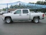 2010 Sheer Silver Metallic Chevrolet Silverado 1500 LS Crew Cab #31900976