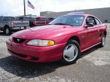 1996 Laser Red Metallic Ford Mustang V6 Coupe #31900342