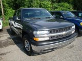 2001 Medium Charcoal Gray Metallic Chevrolet Silverado 1500 LS Extended Cab 4x4 #31900540