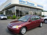 2002 Radiant Ruby Red Pearl Honda Civic EX Sedan #31900563