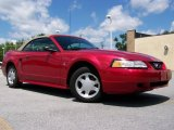 2000 Laser Red Metallic Ford Mustang V6 Convertible #31900376
