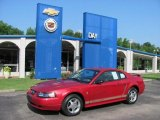 2002 Laser Red Metallic Ford Mustang V6 Coupe #31963895