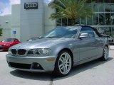 2004 Silver Grey Metallic BMW 3 Series 330i Convertible #31963785