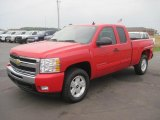 2010 Victory Red Chevrolet Silverado 1500 LT Extended Cab 4x4 #31964298