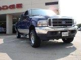 2003 Sonic Blue Metallic Ford F250 Super Duty Lariat Crew Cab 4x4 #32025538