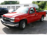 2007 Victory Red Chevrolet Silverado 1500 Classic Work Truck Regular Cab #32025681