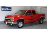2006 Victory Red Chevrolet Silverado 1500 Z71 Extended Cab 4x4 #32054526