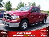 2010 Inferno Red Crystal Pearl Dodge Ram 1500 SLT Quad Cab 4x4 #32054228