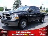 2010 Brilliant Black Crystal Pearl Dodge Ram 1500 ST Crew Cab 4x4 #32054233