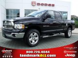 2004 Black Dodge Ram 1500 SLT Quad Cab 4x4 #32054241