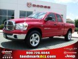 2007 Flame Red Dodge Ram 1500 ST Quad Cab 4x4 #32054242