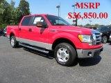 2010 Vermillion Red Ford F150 XLT SuperCrew #32054247