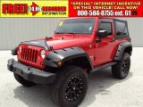 2010 Flame Red Jeep Wrangler Sport 4x4 #32054597