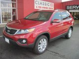 2011 Spicy Red Kia Sorento LX V6 #32054446