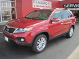 2011 Spicy Red Kia Sorento EX #32054449