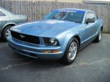 2005 Windveil Blue Metallic Ford Mustang V6 Deluxe Coupe #32054450