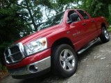 2007 Flame Red Dodge Ram 1500 Big Horn Edition Quad Cab 4x4 #32054675