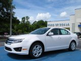 2010 White Platinum Tri-coat Metallic Ford Fusion SE #32098432