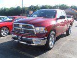 2010 Inferno Red Crystal Pearl Dodge Ram 1500 Big Horn Quad Cab 4x4 #32098854