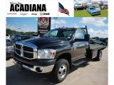2008 Brilliant Black Crystal Pearl Dodge Ram 3500 ST Regular Cab Chassis #32098515