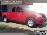 2007 Red Alert Nissan Titan XE King Cab #32098784