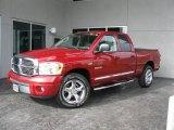 2008 Inferno Red Crystal Pearl Dodge Ram 1500 Laramie Quad Cab #32150921